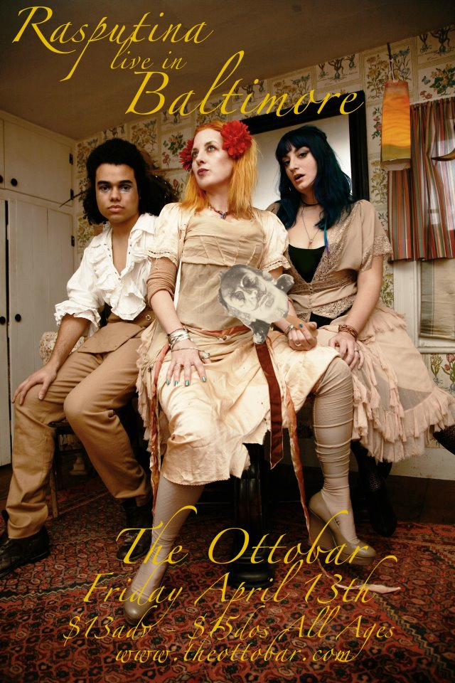 Flyer: Rasputina @ Ottobar April 13, 2012